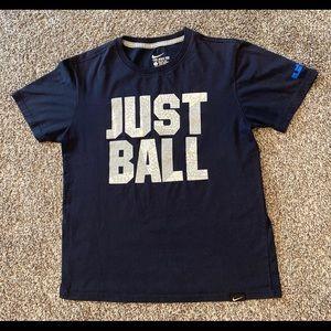 Nike King Lebron James Basketball Blue Gray Shirt